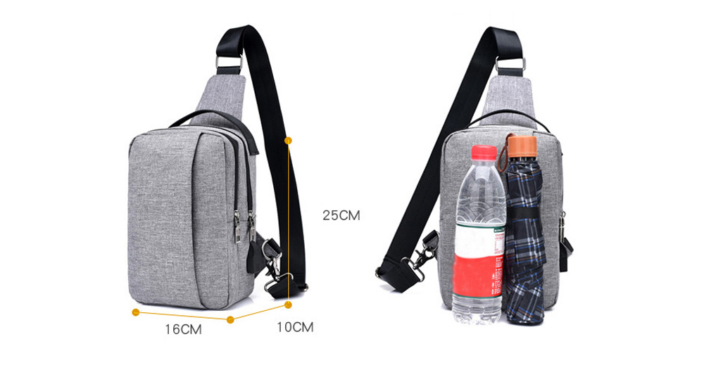 FT00348 Outdoor Multifunctional USB Sling Bag Chest Pocket for Cycling Climbing Riding