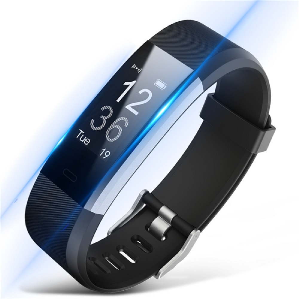 Id115 Plus Smart Bracelet Gps Fitness Tracker Watches Band Heart Rate Monitor Step Counter Alarm