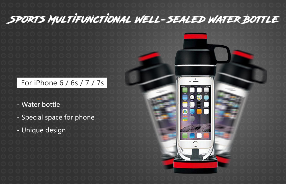 Sports Multifunctional Well-sealed Water Bottle Running Swimming Hiking Kettle for iPhone 6 / 6s / 7 / 7s