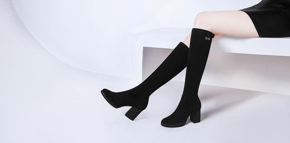 Round Head Thick Heels Female Boots