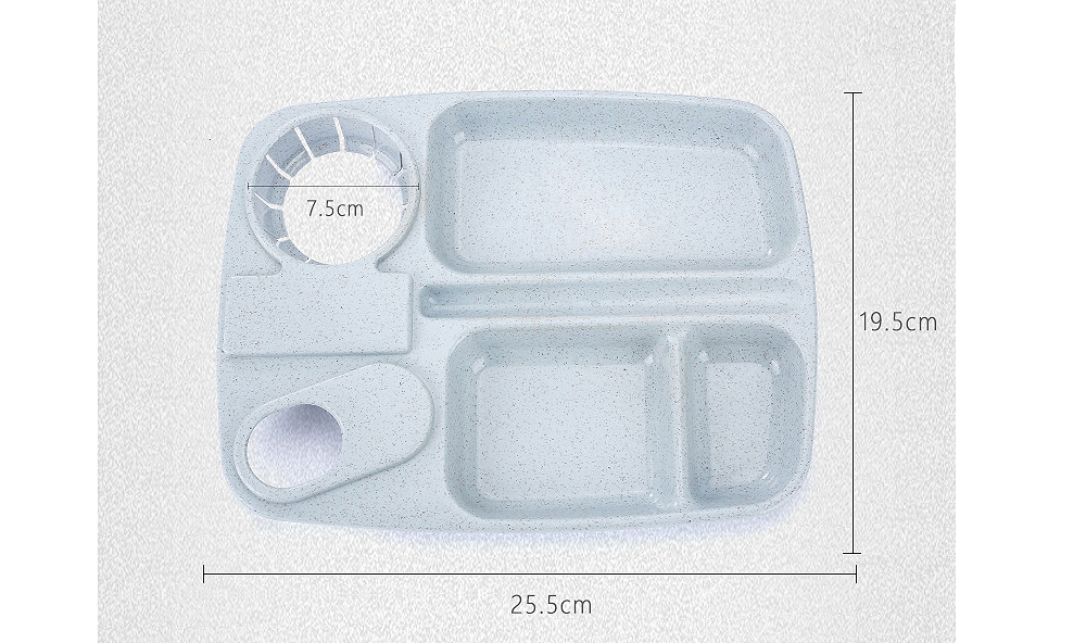Flatware Sets Creative Multi Function Daily Use Grid Plates