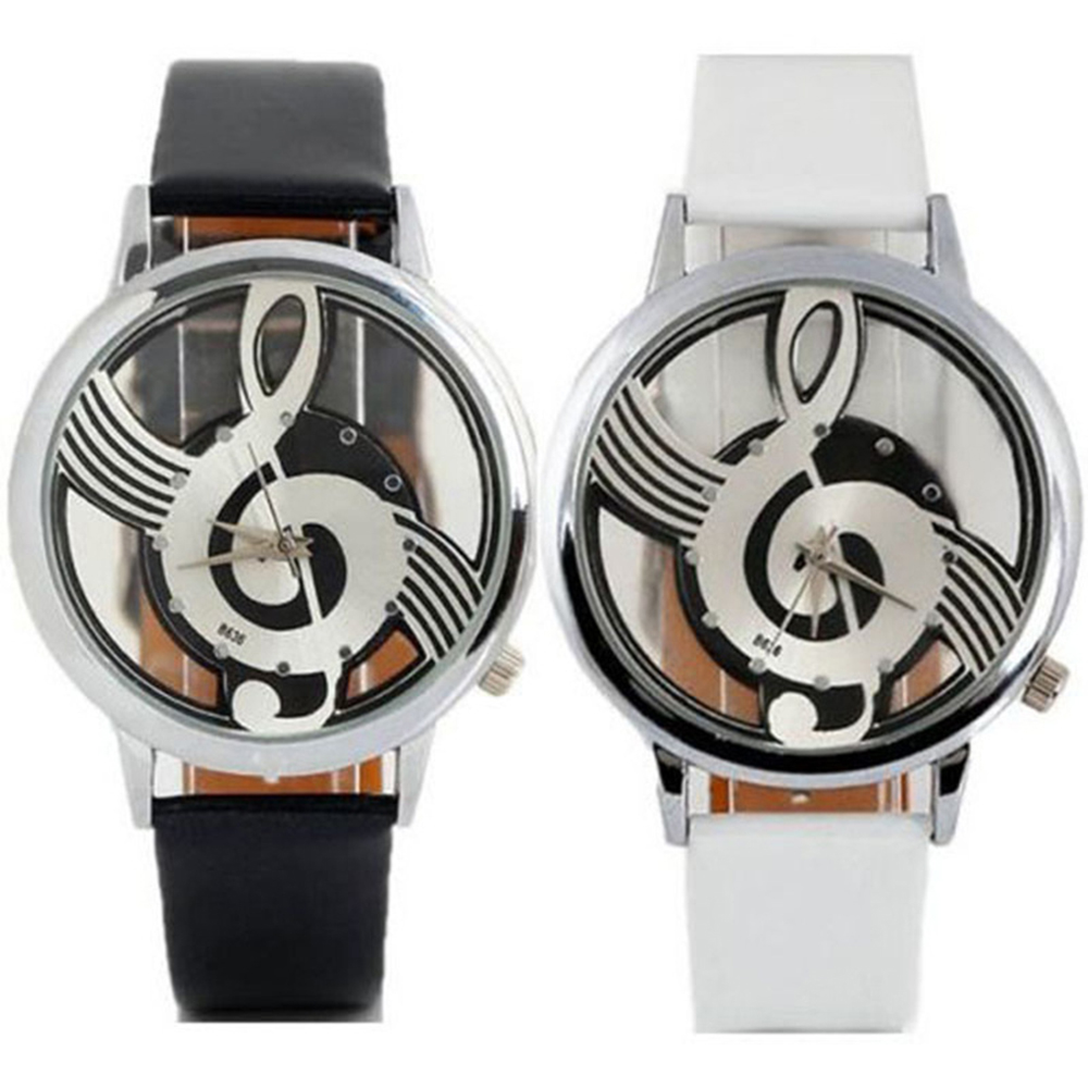 Fashionable Musical Notes Openwork Ladies Watch