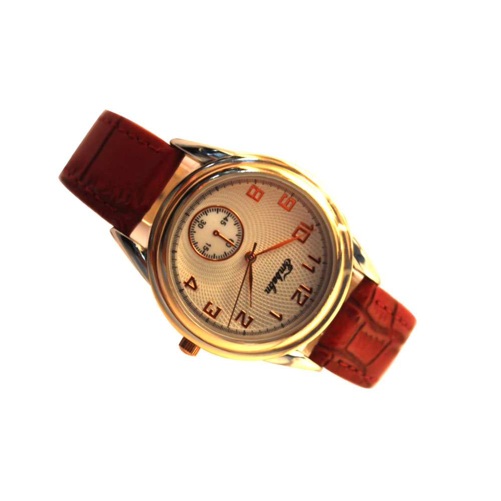 EMBALM Leather Band Ladies Watch
