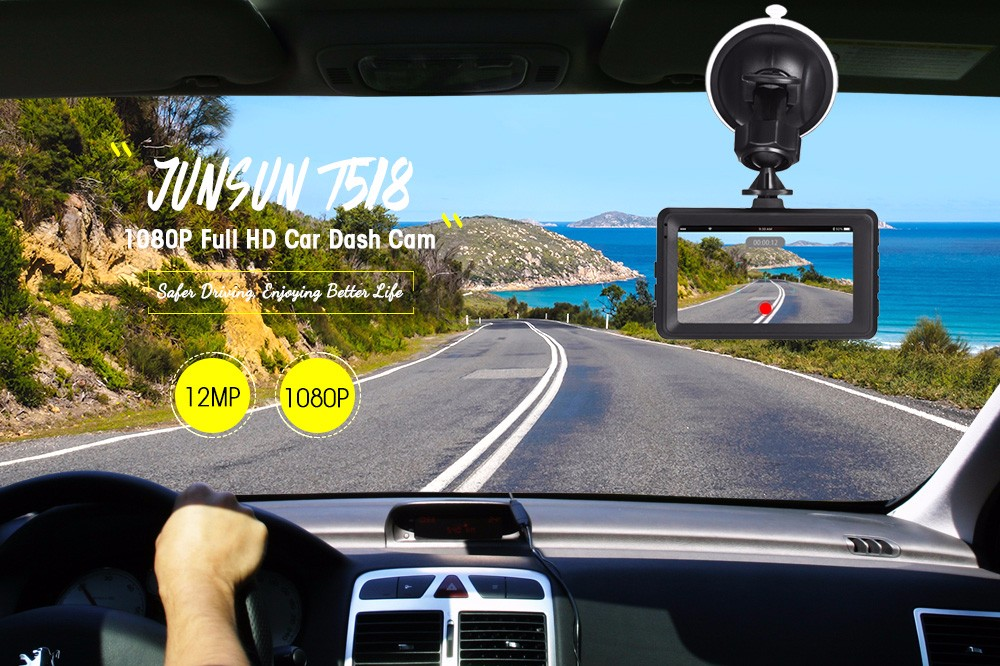 JUNSUN T518 Full HD 1080P Car DVR Auto Dash Camera Digital Video Recorder