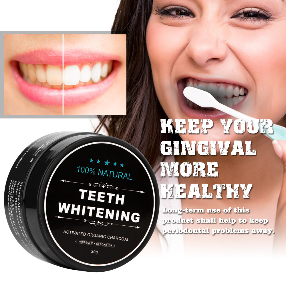 Teeth Whitening Powder Activated Charcoal Stain Remover