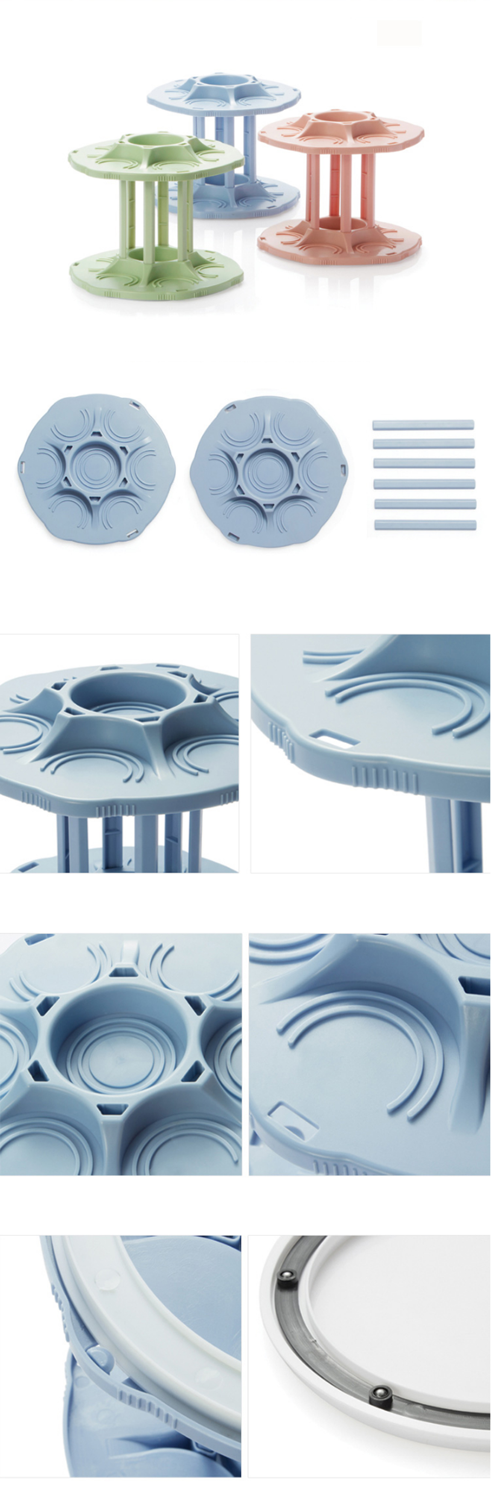 360 Degree Rotating Beverage Tray Can Storage Rack