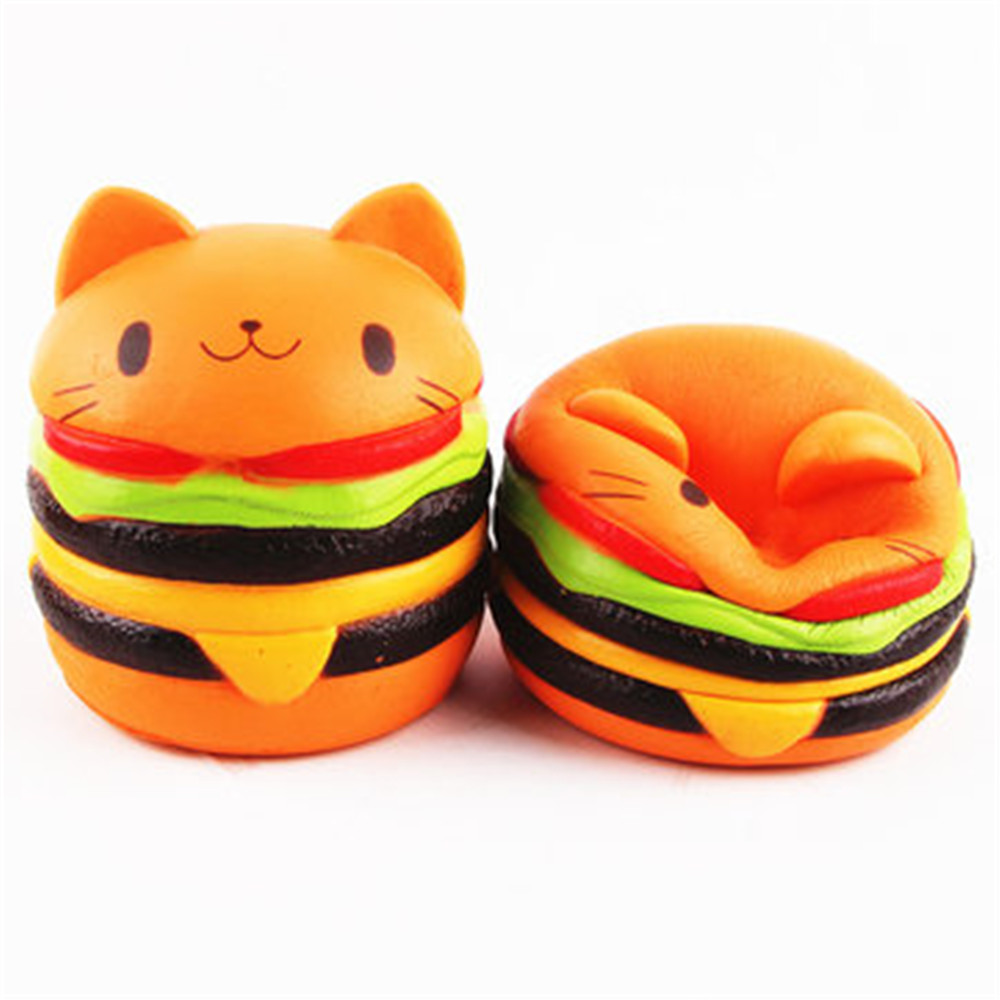 Squishys Cat Burger Slow Rising Soft Animal Collection Gift Decor Toy Original Packaging