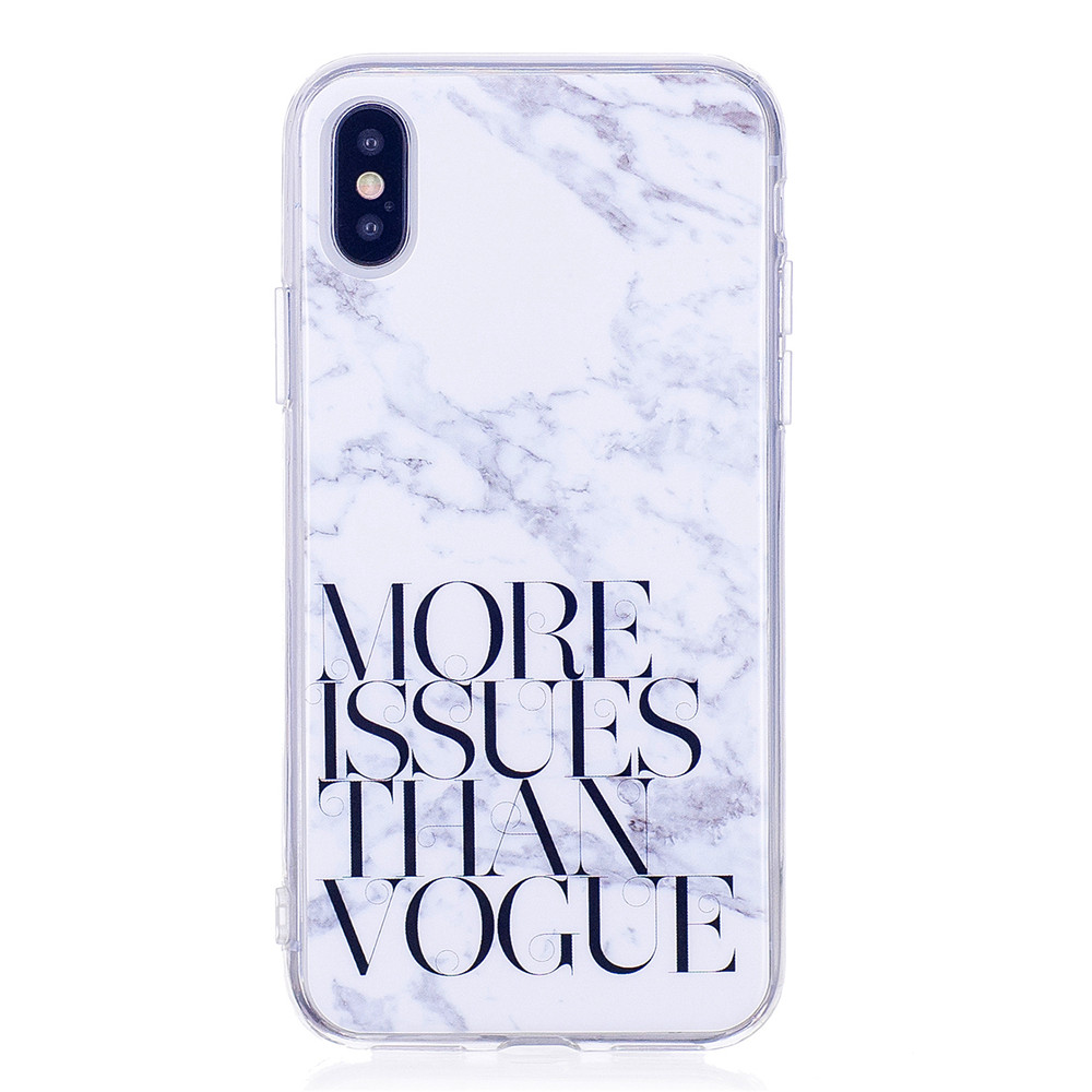 Marbling Phone Case For iPhone X Case Trend Fashion Soft Silicone TPU Cover Cases Protection Phone Bag