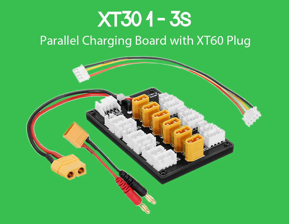 XT30 1 - 3S Parallel Charging Board with XT60 Plug for IMAX B6 ISDT