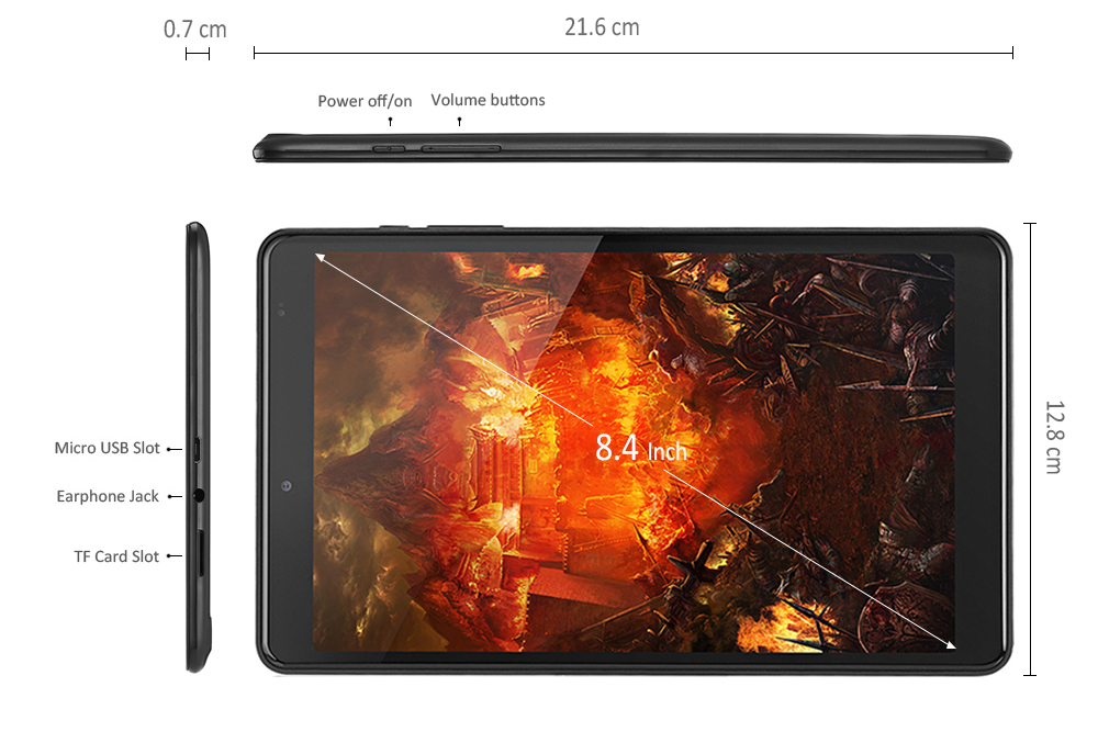 Chuwi Hi9 Tablet PC 8.4 inch Android 7.0 MTK8173 Quad Core 4GB RAM 64GB ROM Dual WiFi