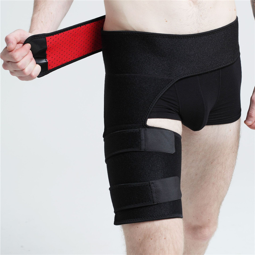 Sport climbing protection thigh muscle injuries prevention/waist and hip of the Gospel- Black