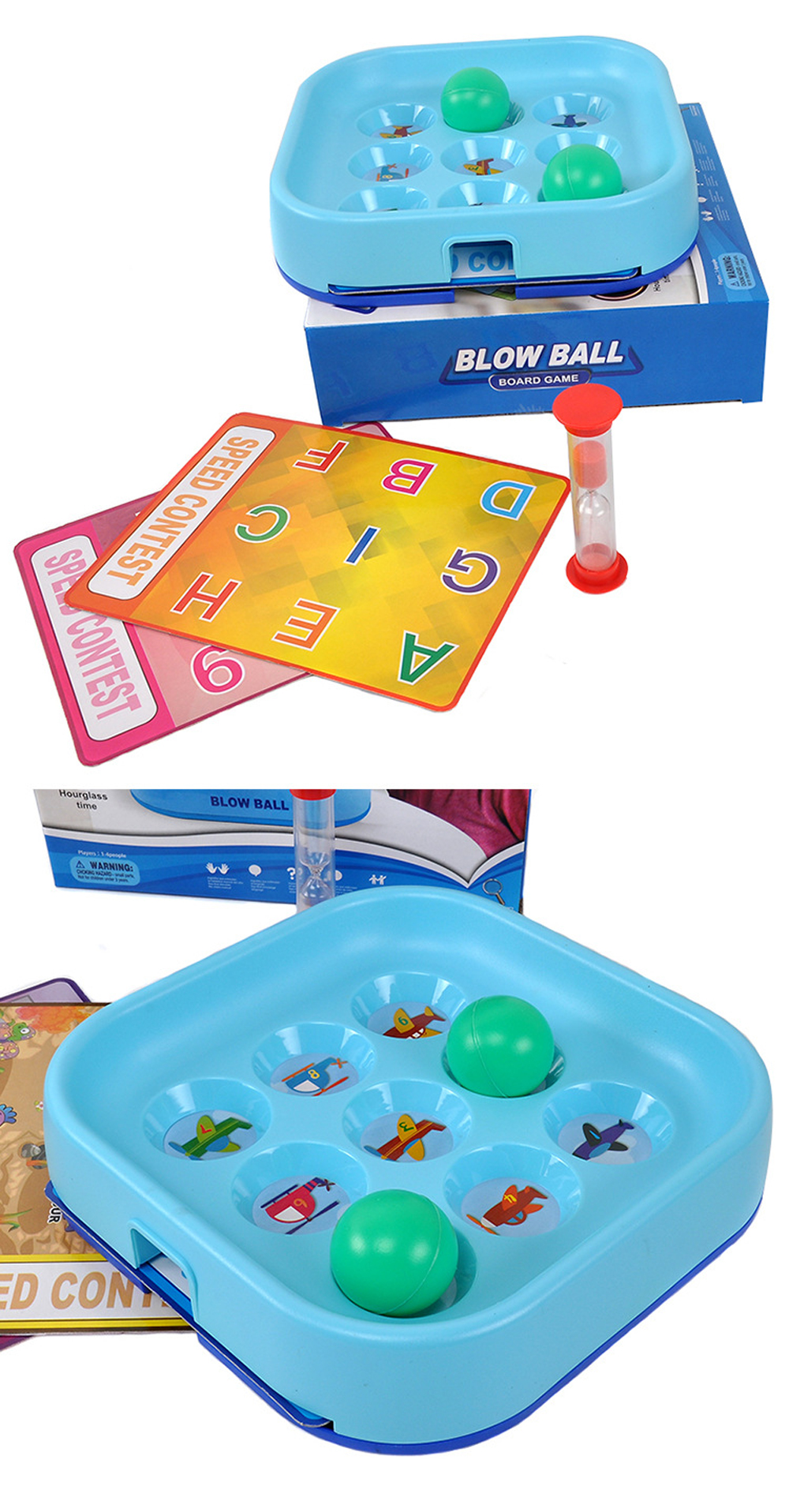 CONGMINGGU Blow Ball Board Game Children Early Childhood Fun Puzzle Kids Sports Toys for Hobbies Intelligence Exercise