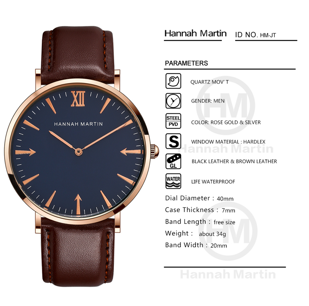 Men Arrow Personality Leather Belt Quartz Wrist Watch