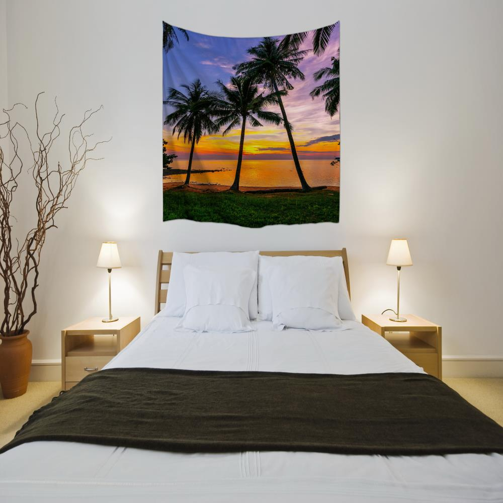 Sunset 3D Digital Printing Home Wall Hanging Nature Art Fabric Tapestry for Bedroom Living Room Decorations- Colormix W230cmxL180cm