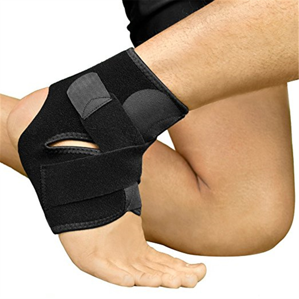 Ankle Support Breathable Ankle Brace for Running Basketball Ankle Sprain Men Women- Black
