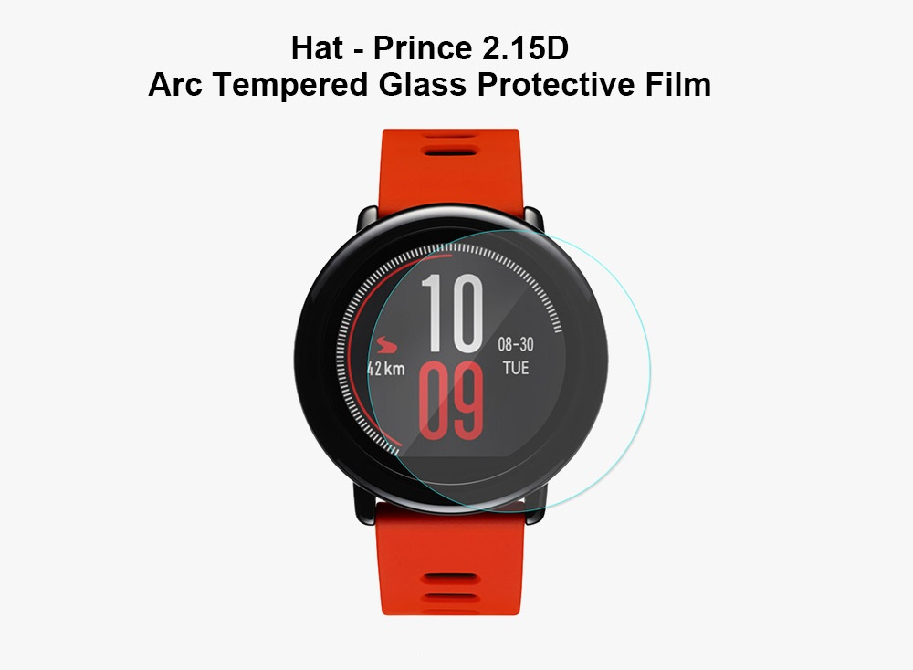 Hat - Prince Ultrathin 2.15D Arc Tempered Glass Protective Film for for Xiaomi Huami Amazfit Sports Smart Watch 2pcs
