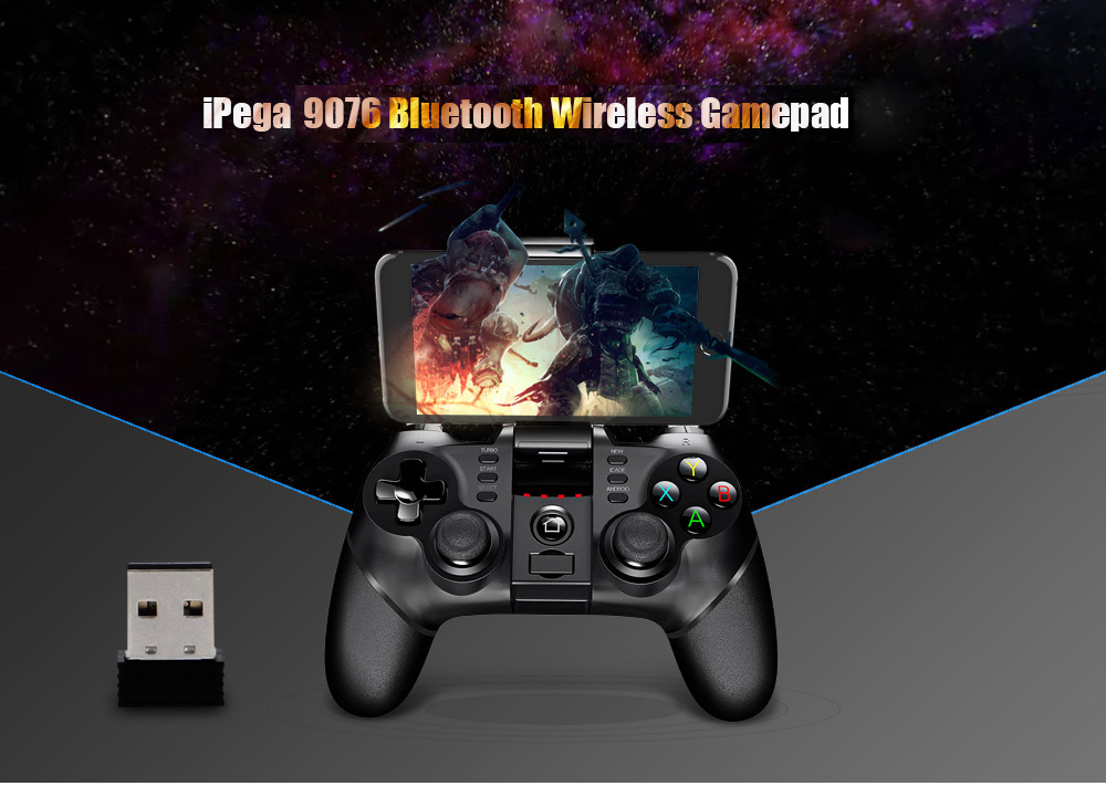 iPega 9076 Bluetooth Gamepad with Bracket 2.4G Wireless Receiver