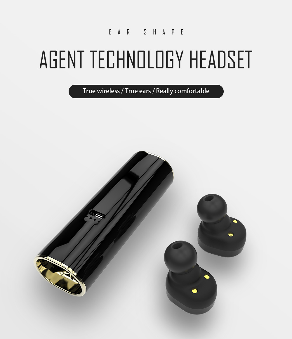 S3 Dual Ear True Wireless Smart Bluetooth Movement Stealth Mini Bluetooth Headset V4.2.