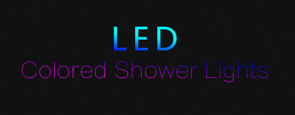 BRELONG LED Shower Head  Colorful Gradual Changing Handheld Shower Heads- Colorful