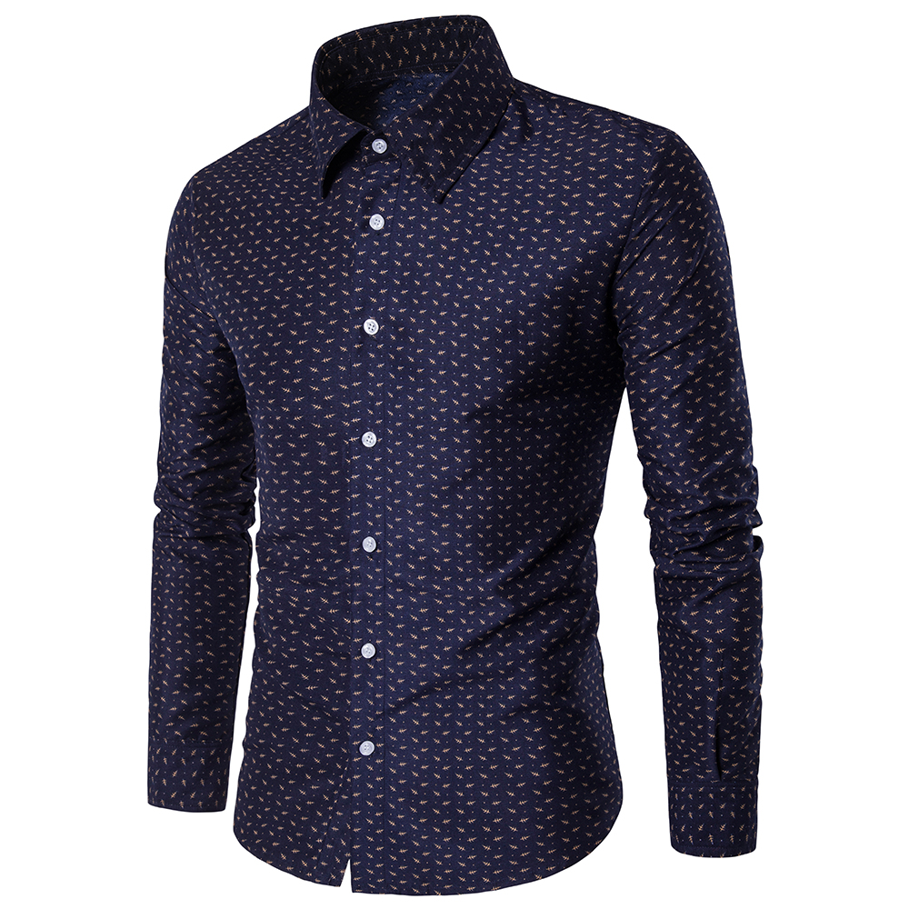 2018 Spring and Summer Fresh Cotton Long-Sleeved  Shirt