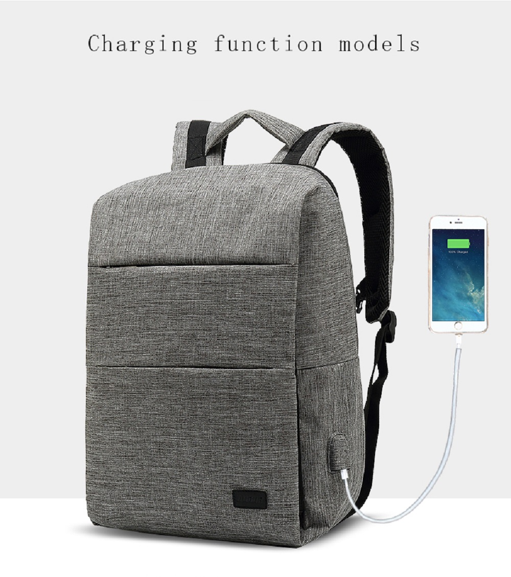 AUGUR Fashion Backpacks USB Charging Men Women Casual Travel Teenager Student Laptop School Bags