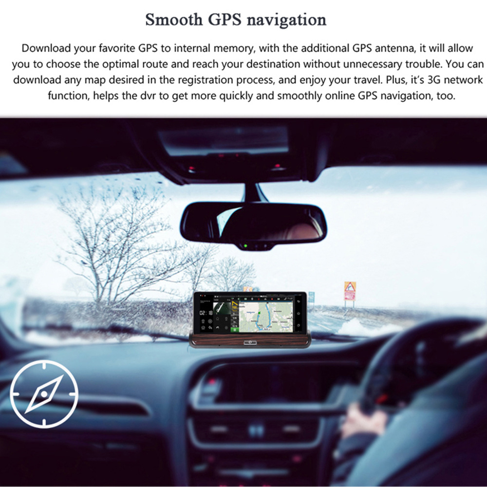 V40 7 InchTouch Android 3G Rear View Mirror DVR GPS Car WIFI Video ...