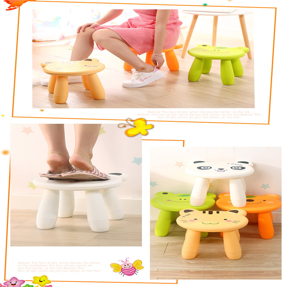 Baby Stool Cartoon Disassembly Assembly Change Shoes Stool- Yellow