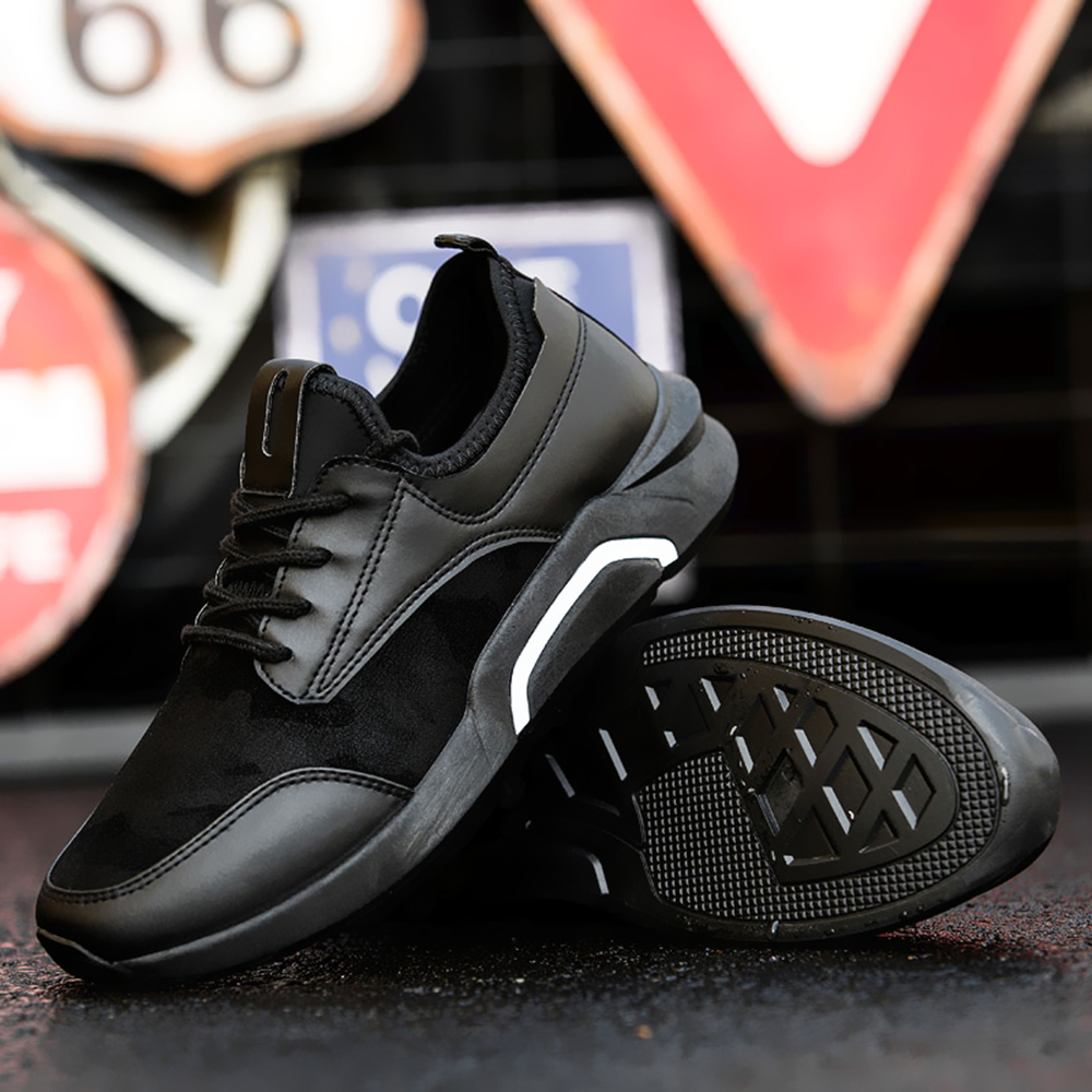 Splicing Breathable Wear-resisting Men's Jogging Shoes