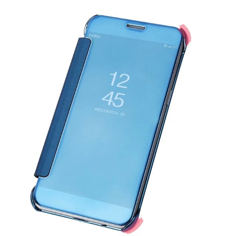 Case Cover for Samsung Galaxy A8 2018 Luxury Clear View Mirror Flip Smart