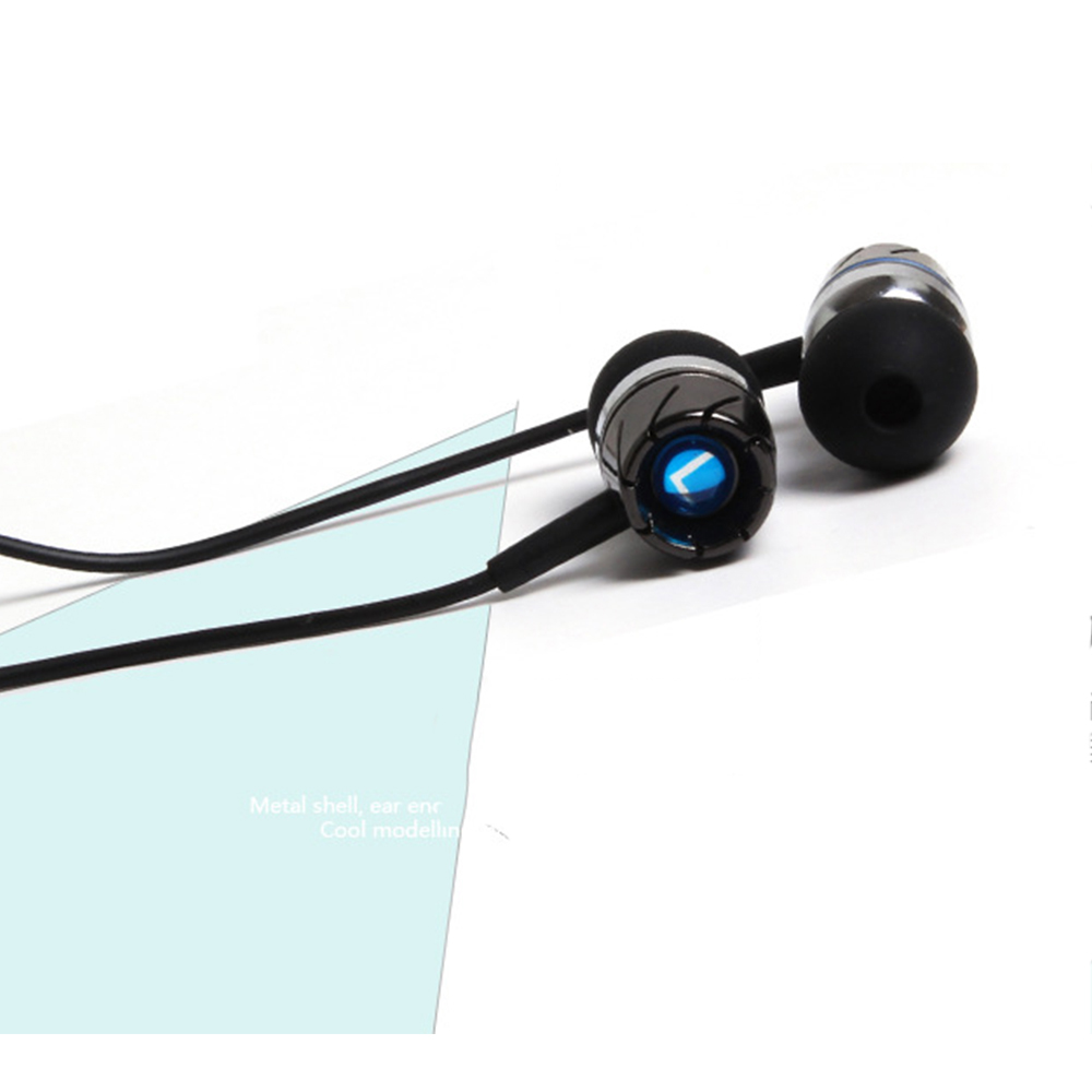 In-Ear Metal Wire Control with Wheat Creative Turbine Universal Bass Phone Headphone