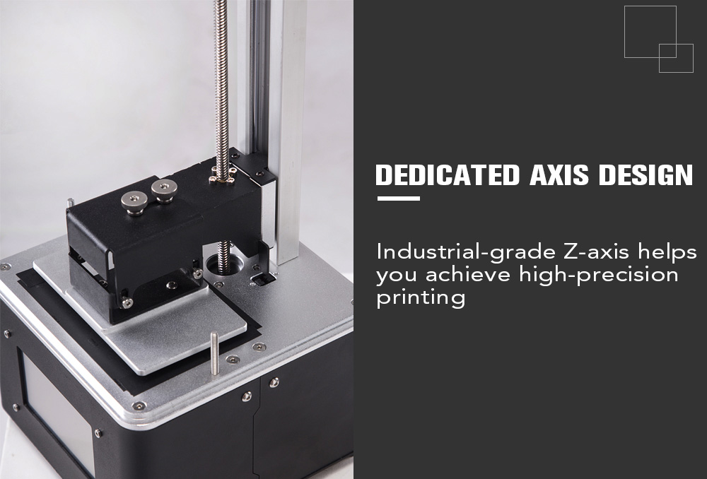 FLSUN S Complete 3D Printer with 4.3-inch Touch Screen Supports UV Resin