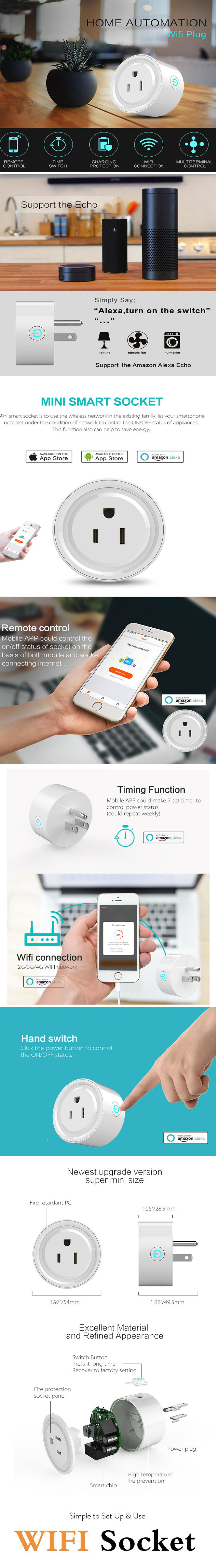Best New Wifi Smart Power Socket Strip Supply Plug With Australian Dual 3 Pin Socketoutlet Construction Wireless Outlet Mini Work Amazon Alexa No Hub Required Remote Control By Phone Timing Function From Anywhere