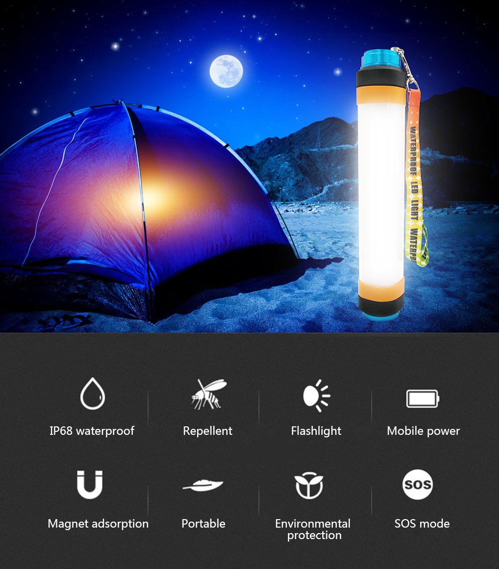 BRELONG LED Camping Mosquito Tent Lights Outdoor Travel Emergency Mobile Power