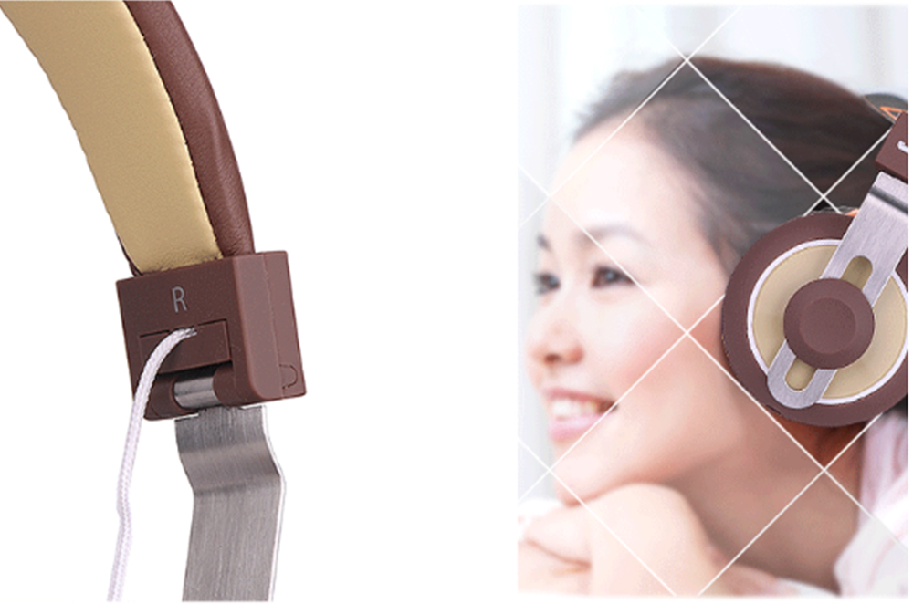 Wearable Wire-Controlled Bass HiFi Music Wired Headphones for Android Tablet