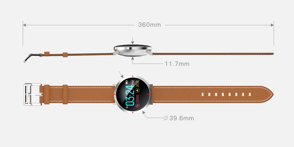 Alfawise S2 Smart Watch Remote Camera Sedentary Reminder Heart Rate / Blood Oxygen Monitor Corning Gorilla Glass Screen