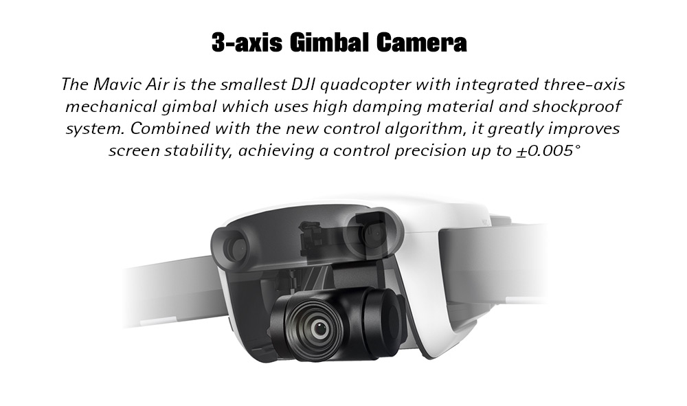 DJI Mavic Air RC Drone 32MP Spherical Panorama Photo / Foldable / 4K Gimbal Camera / Three-direction Perception / Gesture Shooting