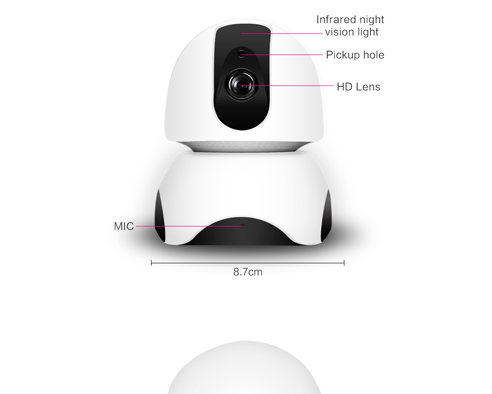 P2p Wireless 1080p Network Hd Video Camera Linkage Alarm Ir Night Infrared Remote Control Tester P Marian Detectors Vision Home Security System X3 Uj36