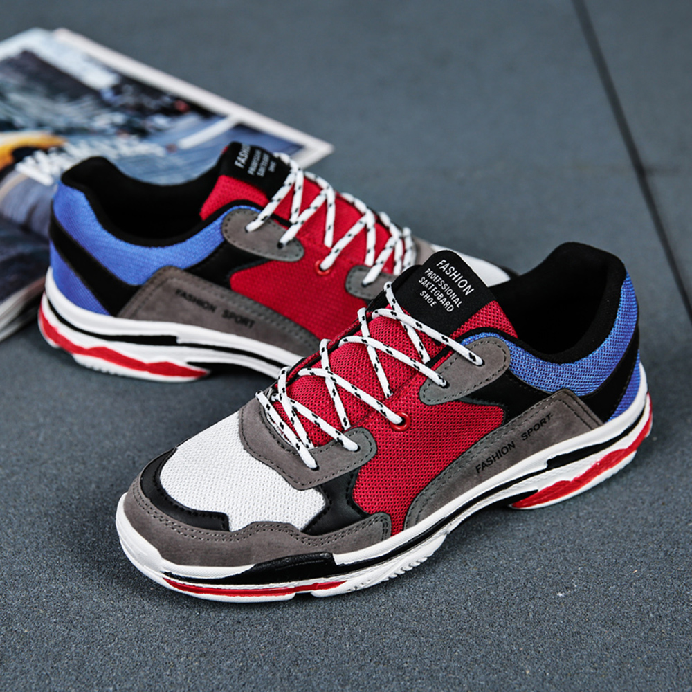 Men Casual Lace Up Breathable Comfortable Shoes