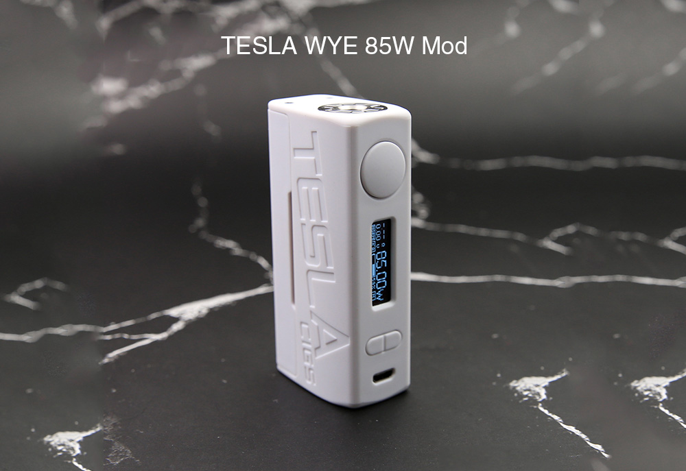 TESLA WYE 85W Mod with 200 - 600F / Supporting 1pc 18650 Battery for E Cigarette