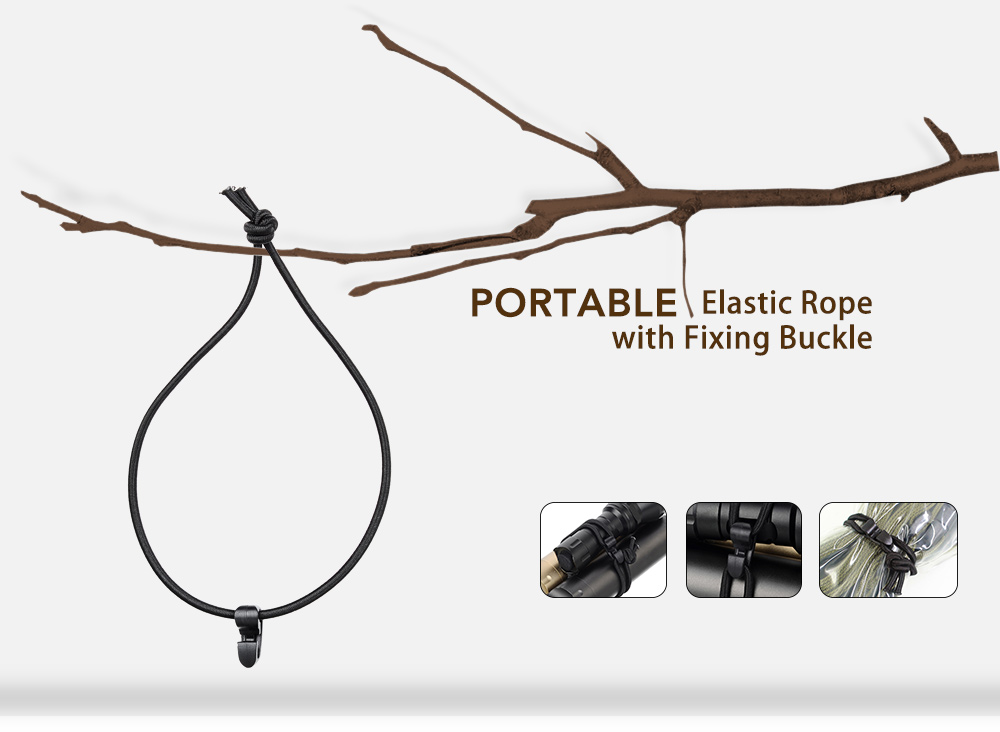 Portable Elastic Rope with Fixing Buckle 5PCS