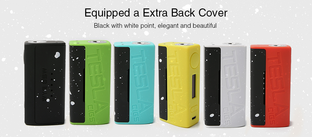 Teslacigs WYE 85W TC Box Mod Equipped a Extra Back Cover