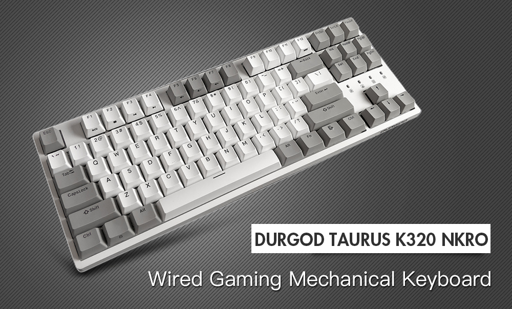 DURGOD K320 NKRO Wired Gaming Mechanical Keyboard with Cherry Switch
