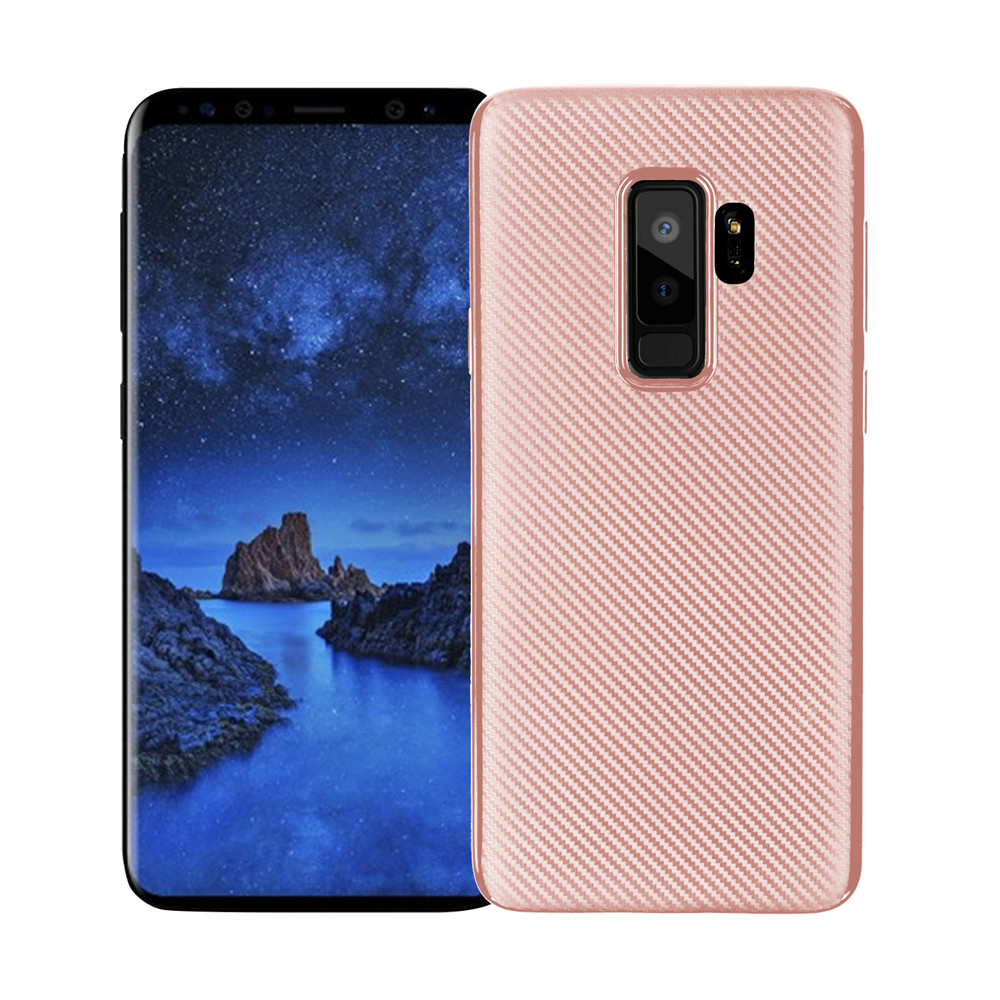 Cover Case for Samsung Galaxy S9 Plus Soft Carbon Fiber Luxury TPU ...