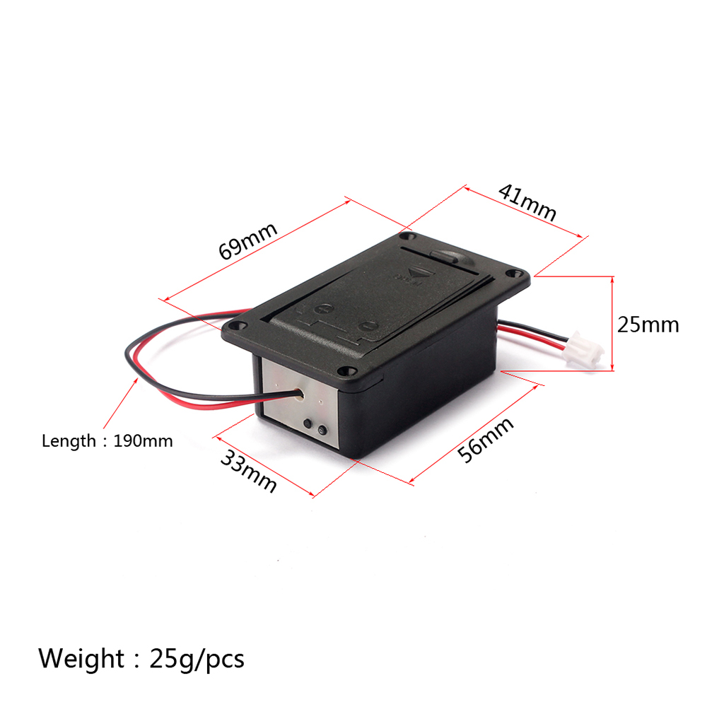 High Quality Black 9v Battery Box Case Cover Holders For Guitar Bass Bundle 10pcs Steam Wallet Idr 90000 Pickup Replacement Accessory