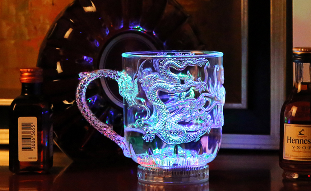 Colorful Luminous LED Induction Cup Magic Cup Water Injection Induced Luminescence