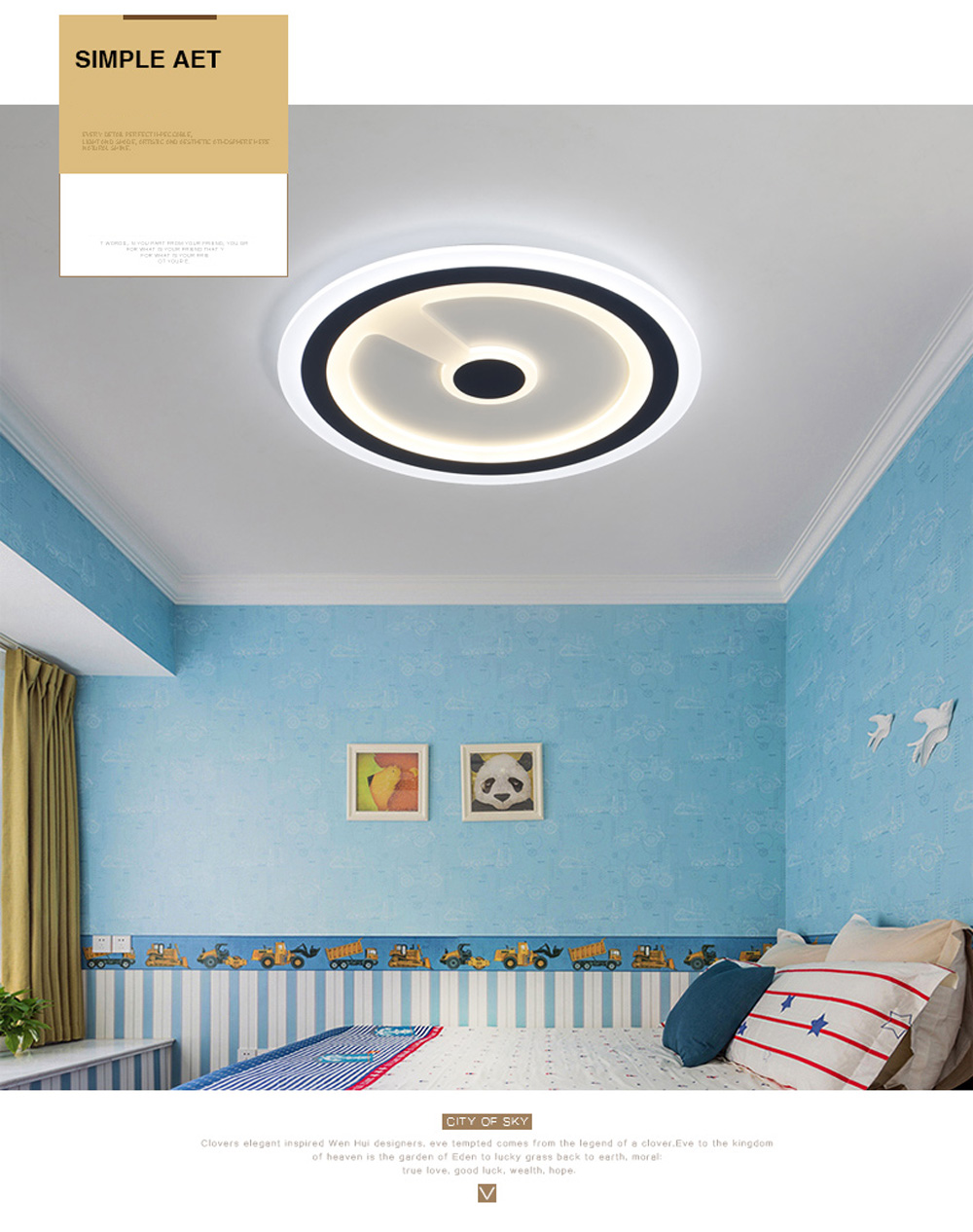PJ387 LED Modern Simplicity Ceiling Light Creative Personality Restaurant Bedroom Living Room Lamps And Lanterns