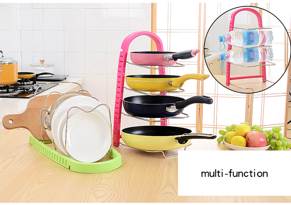 Kitchen Multi-Functional Stainless Steel Pan Cutting Board Racks