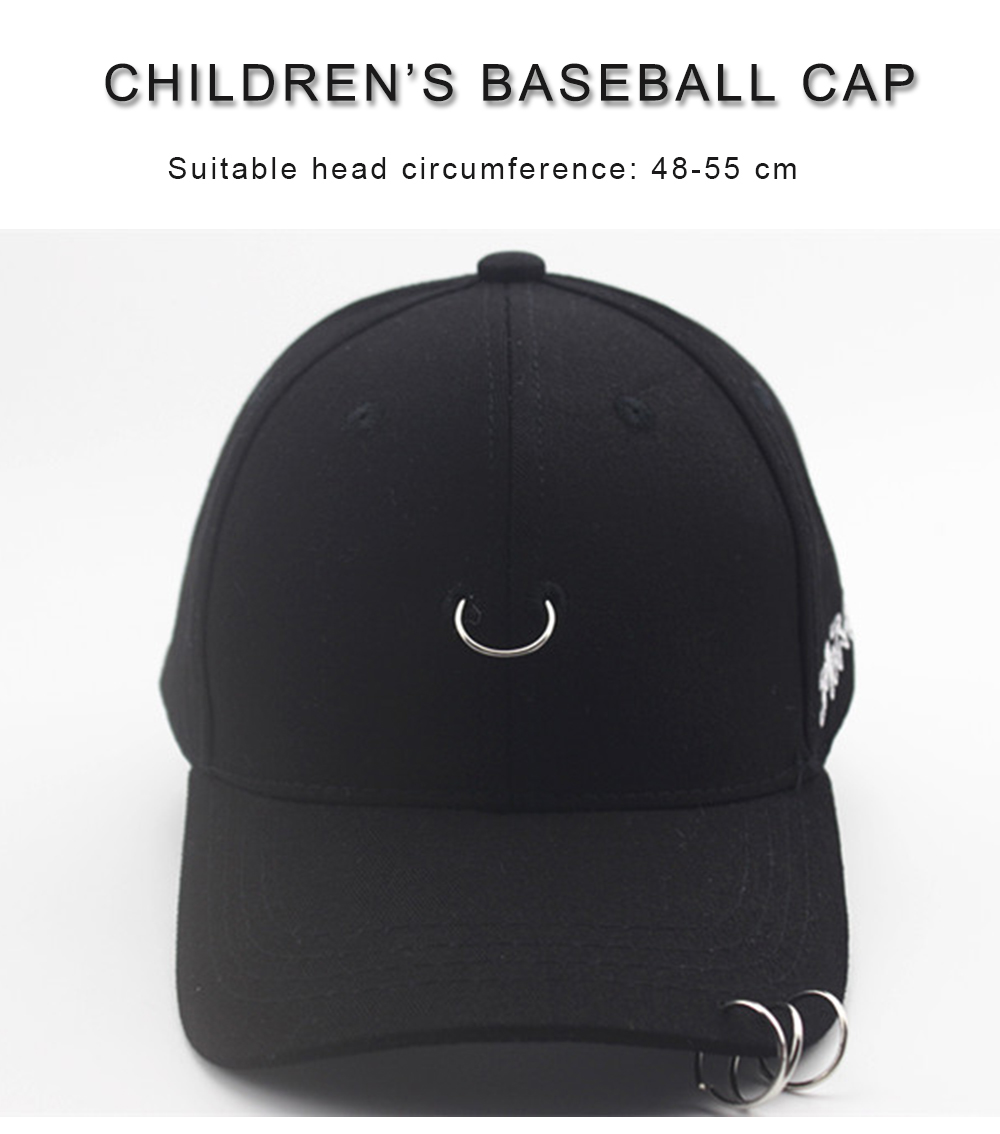 Children Three Rings Cap Fashion Baseball Hat for child