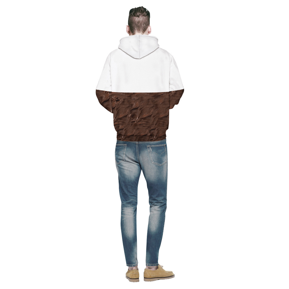 Chocolate Digital Printing Hoodie
