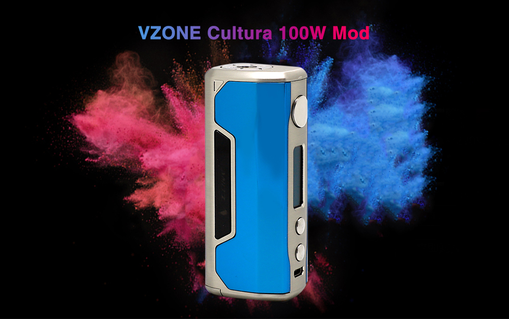 VZONE Cultura 100W Mod with 200 - 600F / 0.1 - 3 ohm / Supporting 1pc 18650 / 20700 Battery for E Cigarette
